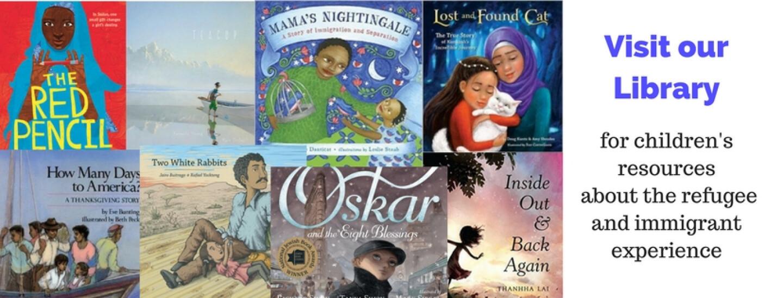 Library kids refugee