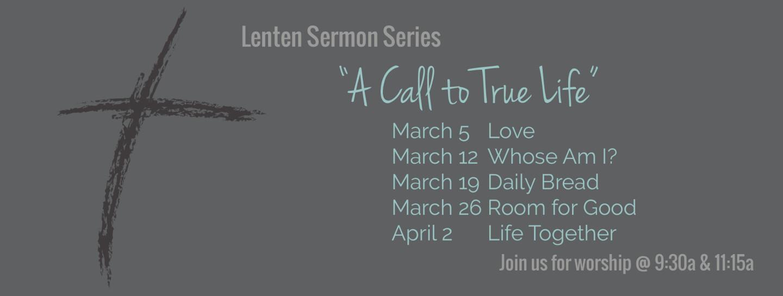 lent sermon series 2017