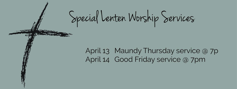 lenten special services updated
