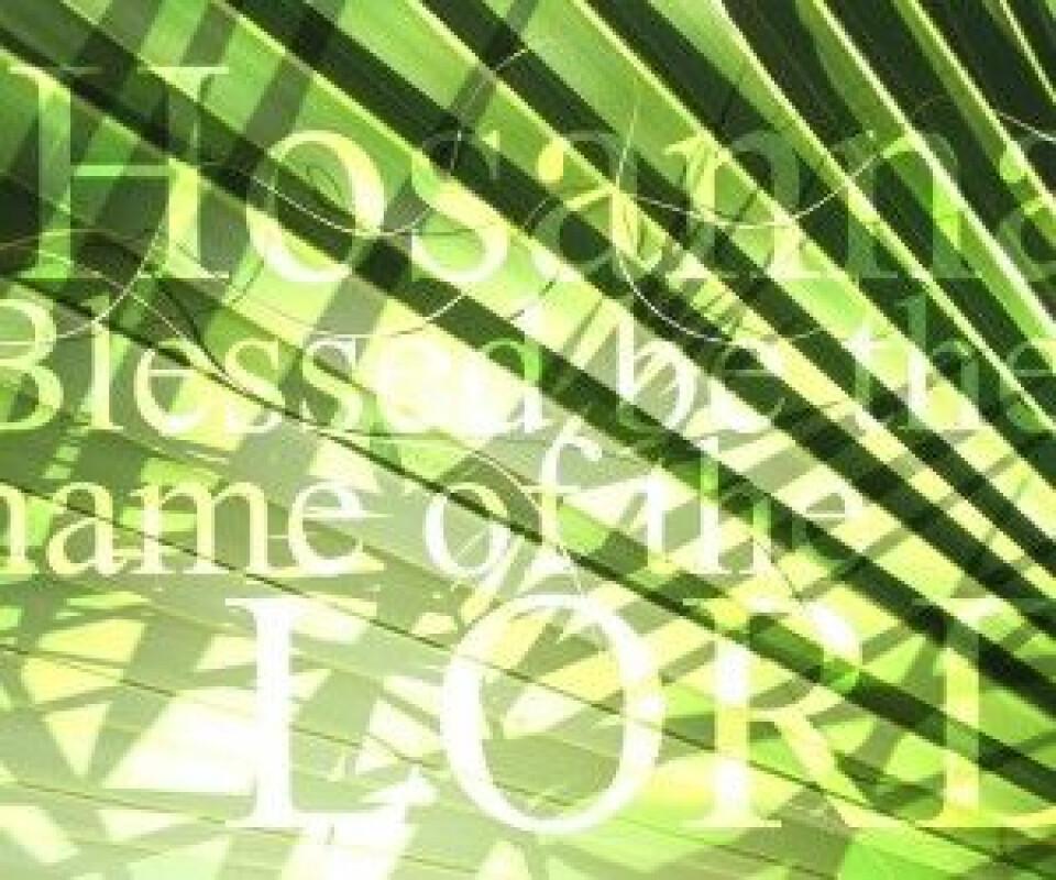 Palm Sunday Worship: 9am Service